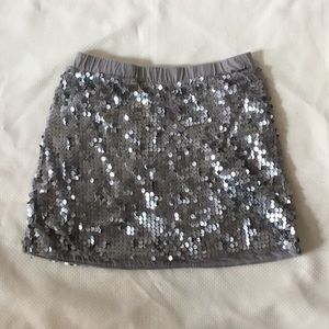 Old Navy Silver Sequin skirt